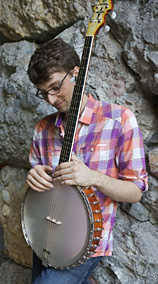 Wes Corbett with his Kel Kroydon Banjo